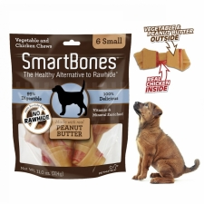 Snack Anjing Smart Bones Peanut Butter 6 Small