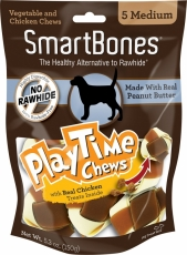 Snack Anjing Smart Bones Playtime Peanut Butter 5 Medium