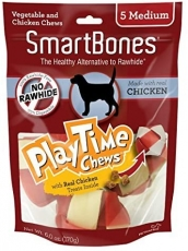 Snack Anjing Smart Bones Playtime Chicken 5 Medium