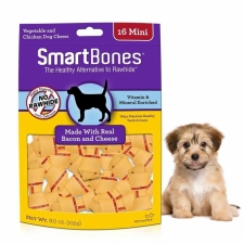 Snack Anjing Smart Bones Bacon Cheese 16 Mini