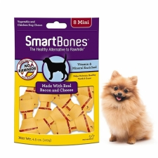 Snack Anjing Smart Bones Bacon Cheese 8 Mini