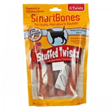 Snack Anjing Smart Bones Stuffed Twist Pork 6 Twist
