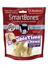 Snack Anjing Smart Bones Double Time Chicken 3 Medium