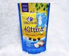 Snack Kucing Wellness Kittles Grain Free Chicken & Cranberries Recipe 2oz