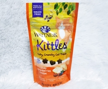 Snack Kucing Wellness Kittles Grain Free Turkey & Cranberries Recipe 2oz