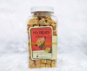 Snack Anjing & Kucing FD Treats Salmon Cube for Dog & Cat 80gr