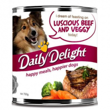 Makanan Basah / Kaleng Anjing Daily Delight Dog Luscious Beef & Veggie 700gr