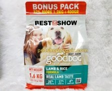 Makanan Anjing Best In Show Good Dog Dry Food Lamb & Rice 1.6kg