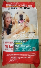 Makanan Anjing Best In Show Good Dog Dry Food Lamb & Rice 18kg