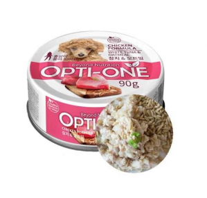 Makanan Basah / Kaleng Anjing Opti-One Dog Chicken & White Tuna, Oatmeal 90gr
