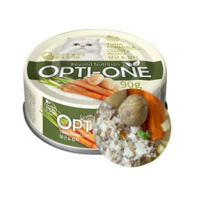Makanan Basah / Kaleng Kucing Opti-One Cat White Tuna & Caroot, Potato 90gr