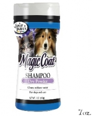 Shampoo Anjing Magic Coat Dry Shampoo Powder For Dogs And Cats 7oz