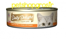 Makanan Basah Kucing Daily Delight Happt Meals Happiers Pure Pumpkin 80gr