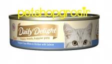 Makanan Basah Kucing Daily Delight Happt Meals Happiers Pure Salmon 80gr