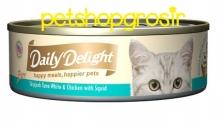 Makanan Basah Kucing Daily Delight Happt Meals Happiers Pure Squid 80gr