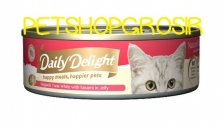 Makanan Basah Kucing Daily Delight Happy Meals Happiers Pets Sasami In Jelly 80gr