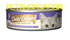 Makanan Basah Kucing Daily Delight Happy Meals Happiers Pets Shirasu In Jelly 80gr