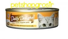Makanan Basah Kucing Daily Delight Happy Meals Happiers Pets Sweet Corn In Jelly 80gr