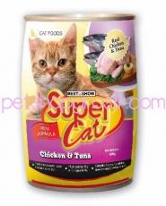 SUPER CAT CHICKEN & TUNA 400GR