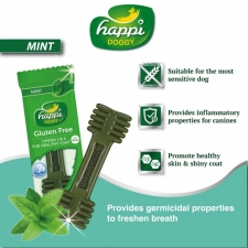 Snack Anjing Happi Doggy Dental Care Mint Gluten Free