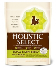 Makanan Anjing Grain Free Holistic Select Adult Small & Mini Breed Anchovy & Sardine and Chicken Meals 6lbs