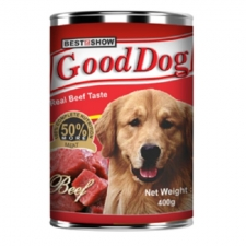 Makanan Anjing Kaleng Best In Show Good Dog Real Beef Can 400gr