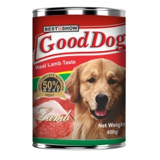 Makanan Anjing Kaleng Best In Show Good Dog Real Lamb Can 400gr