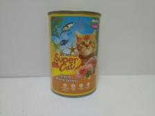 Super Cat Tuna & Minced Salmon for Kitten 400gr