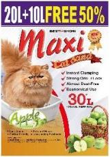 Pasir Kucing Maxi Cat Sand Apple 30 Liter