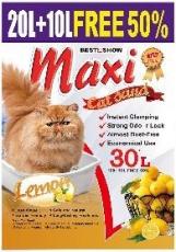 Pasir Kucing Maxi Cat Sand Lemon 30 Liter