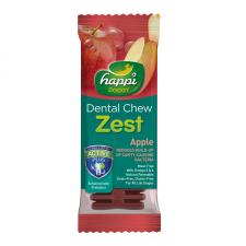 Snack Anjing Happi Doggy Dental Chew Zest Apple Gluten Free