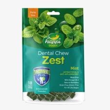 Snack Anjing Happi Doggy Dental Chew Zest Petite Gluten Free Mint 150g