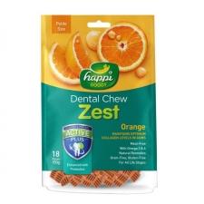 Snack Anjing Happi Doggy Dental Chew Zest Petite Gluten Free Orange 150g