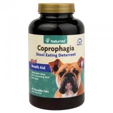 NATURVET COPROPHAGIA STOOL EATING DETERRENT PLUS BREATH AID TAB