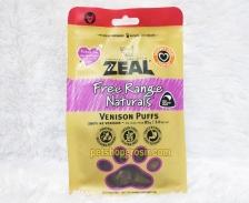 Snack Anjing & Kucing Grain Free Zeal Treats Free Range Naturals Venison Puffs 85gr
