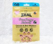 Snack Anjing & Kucing Grain Free Zeal Treats Free Range Naturals Chicken & Beef Morsels 100gr