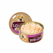 Makanan Basah / Kaleng Anjng Loveat Dogfood Chicken and Salmon 90gr
