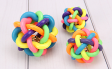 Mainan Hewan Bobo Colour Ball with Bell Medium Toy