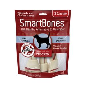 Snack Anjing Smart Bones Chicken 3 Large