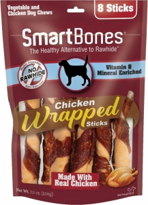 Snack Anjing Smart Bones Wrapped Chicken 8 Stick