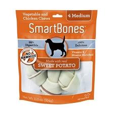 Snack Anjing Smart Bones Sweet Potato 4 Medium