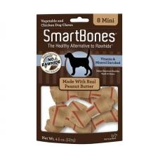 Snack Anjing Smart Bones Peanut Butter 8 Mini