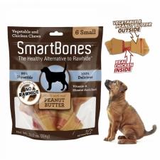 Snack Anjing Smart Bones Peanut Butter 6 Small