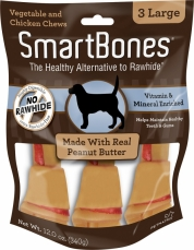 Snack Anjing Smart Bones Peanut Butter 3 Large