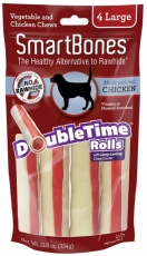 Snack Anjing Smart Bones Double Time Rolls Chicken 4 Large