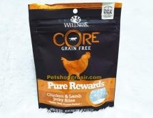 Wellness Core Dog Grain Free Pure Rewards Chicken & Lamb Jerky Bites 4oz