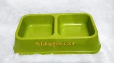 Mangkuk Anjing & Kucing Bamboo Double Bowl 28.4cm x 16cm x 5.5cm BO-3028-Z