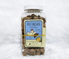 Snack Anjing & Kucing FD Treats Chicken Liver Cube for Dog & Cat 120gr