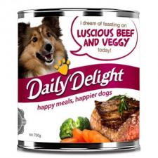 Makanan Basah / Kaleng Anjing Daily Delight Dog Luscious Beef & Veggie 375gr