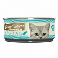 Makanan Basah / Kaleng Kucing Daily Delight Cat Mousse with Tuna 80gr